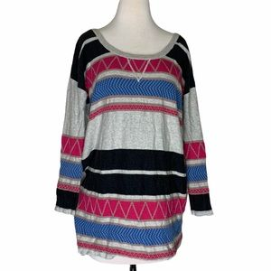 Free People striped/patterned 3:4 sleeve tunic